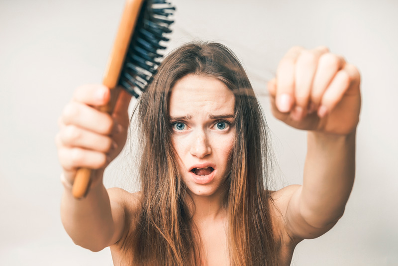 Causas caída de pelo