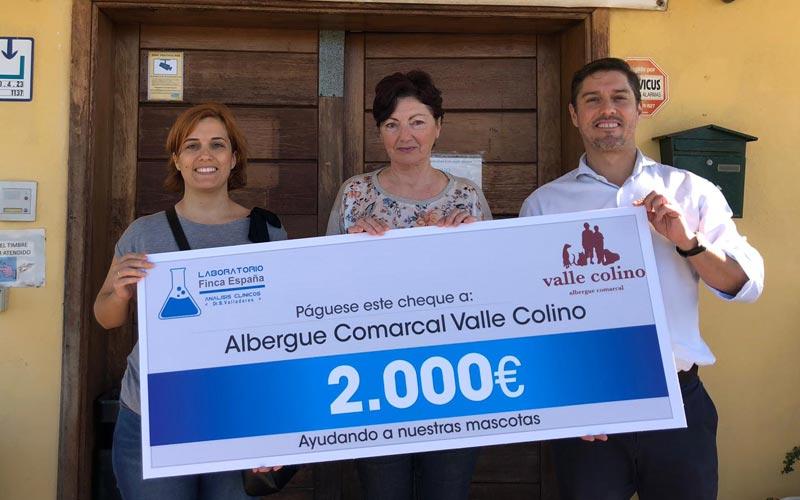 Donación albergue Valle Colino